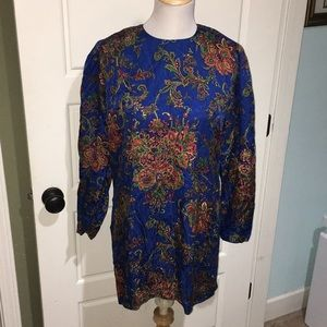 Silk blue dress by Adrianna Papell 12 stunning l
